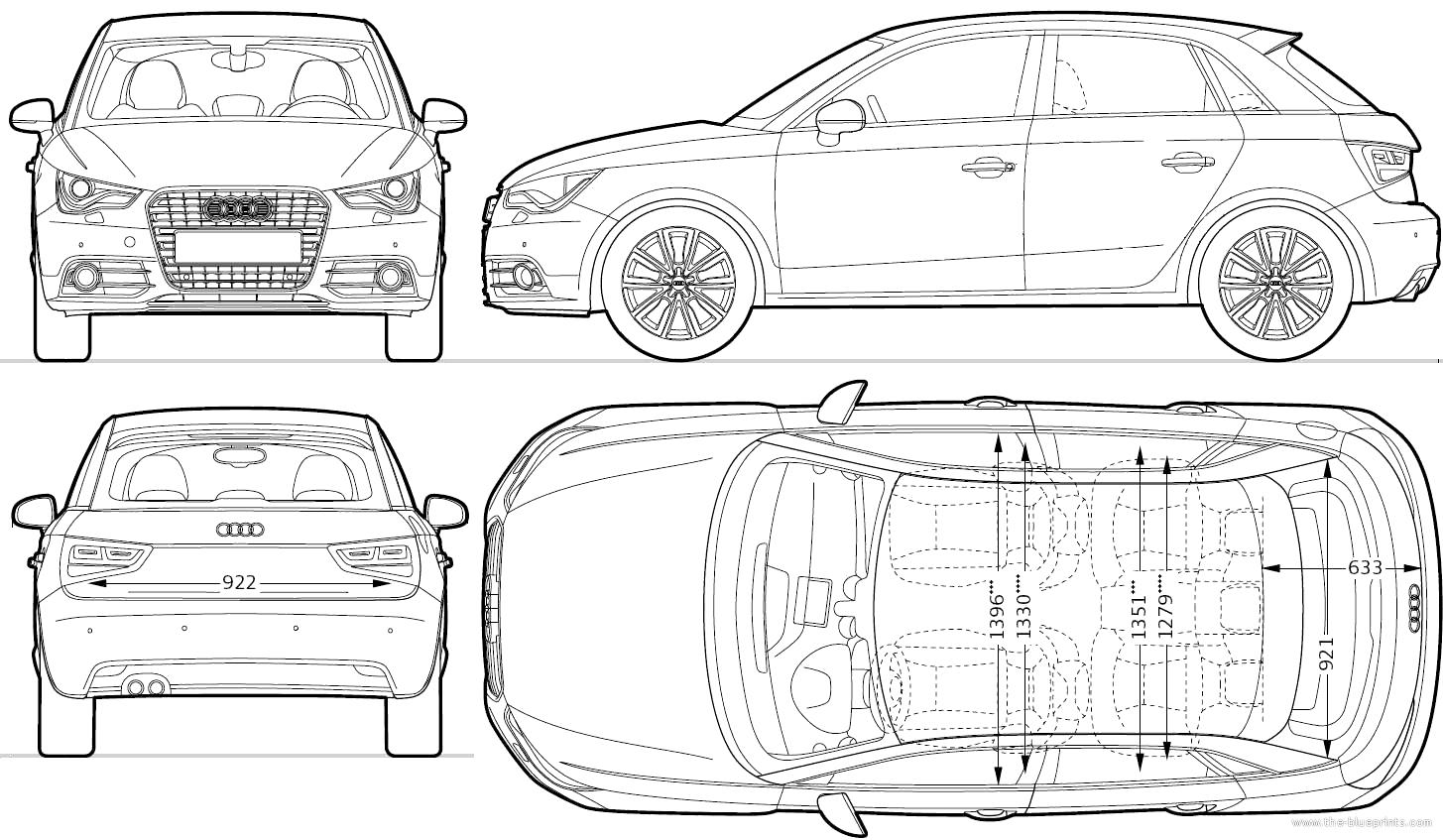 Dimension Audi A3 Sportback. image gallery dimensions a3