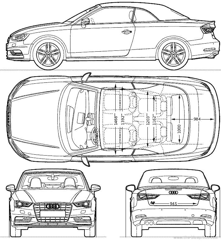 Blueprints > Cars > Audi > Audi A3 Cabriolet (2014)