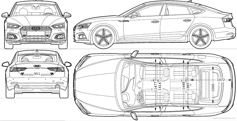 Blueprints > Cars > Audi > Audi A5 Sportback (2016)