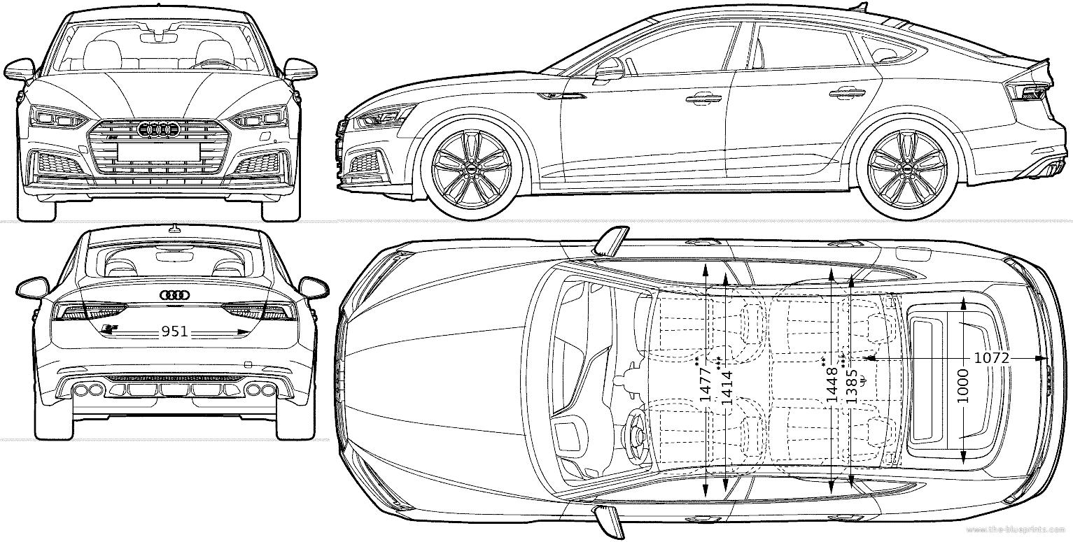 Blueprints > Cars > Audi > Audi S5 Sportback (2016)