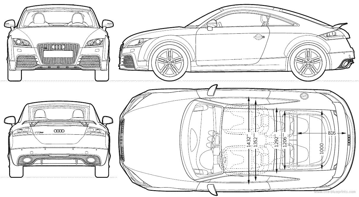 Blueprints > Cars > Audi > Audi TT RS (2013)