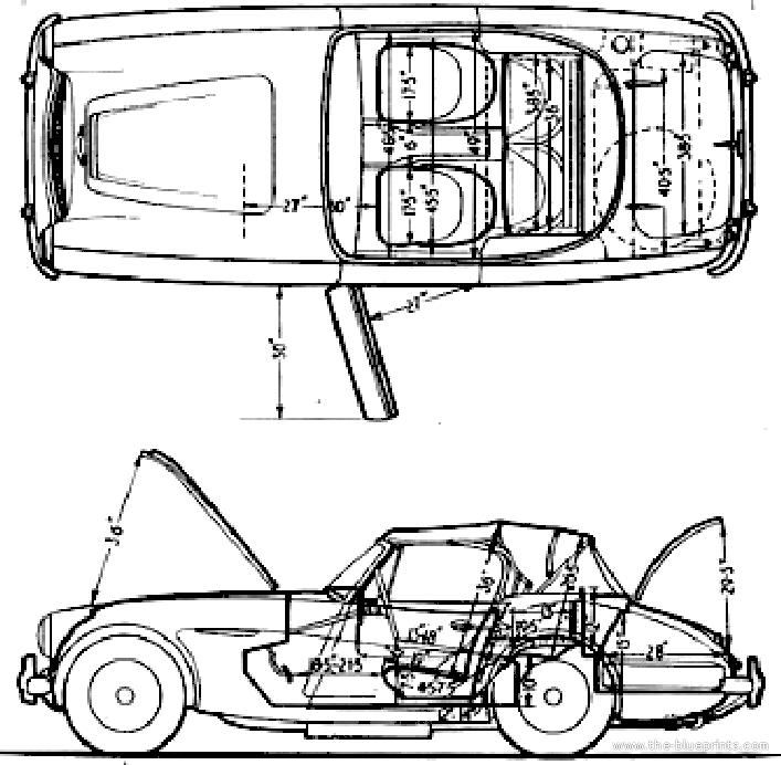 Blueprints > Cars > Austin > Austin Healey 3000 Mk III (1964)