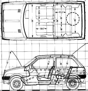 Blueprints > Cars > Austin > Austin Mini Metro 1.3 HLS (1980)