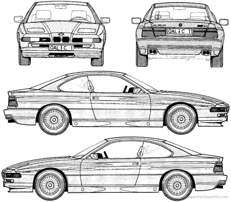 Blueprints > Cars > BMW > Alpina B12 (BMW 850i) (E31) (1989)
