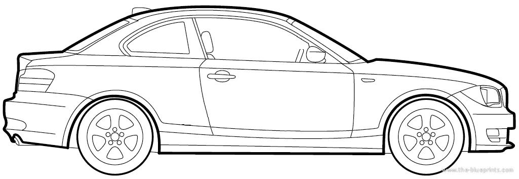 Blueprints > Cars > BMW > BMW 1-Series Coupe (E82) (2009)