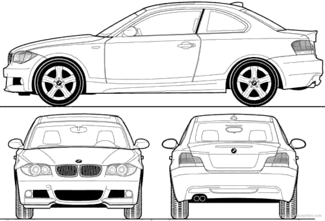 Blueprints > Cars > BMW > BMW 128i Coupe (2008)