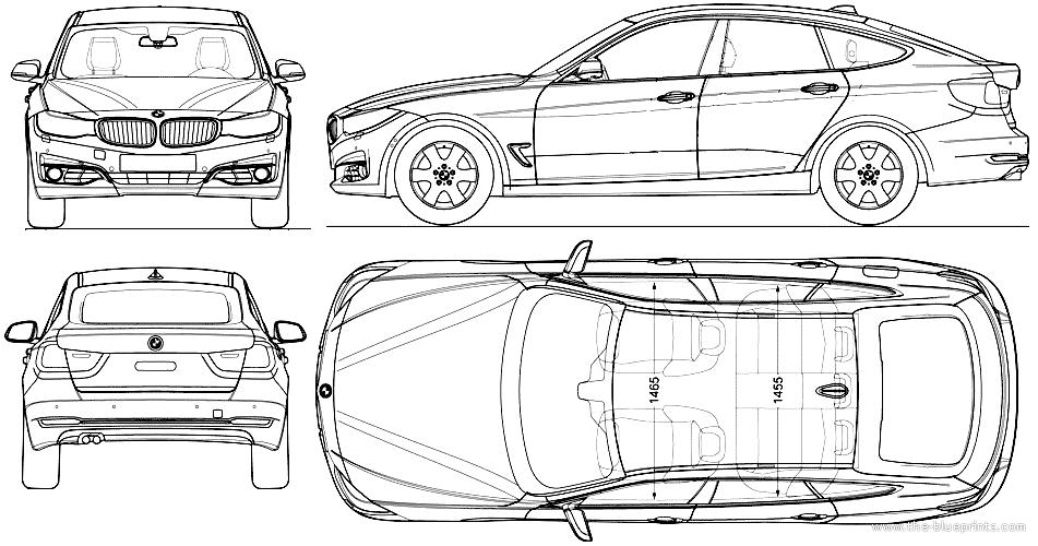 Blueprints > Cars > BMW > BMW 3-Series Gran Turismo (2013)