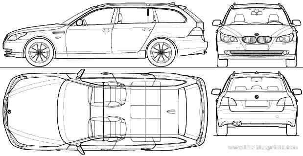 Blueprints > Cars > BMW > BMW 5-Series Touring (E61) (2010)