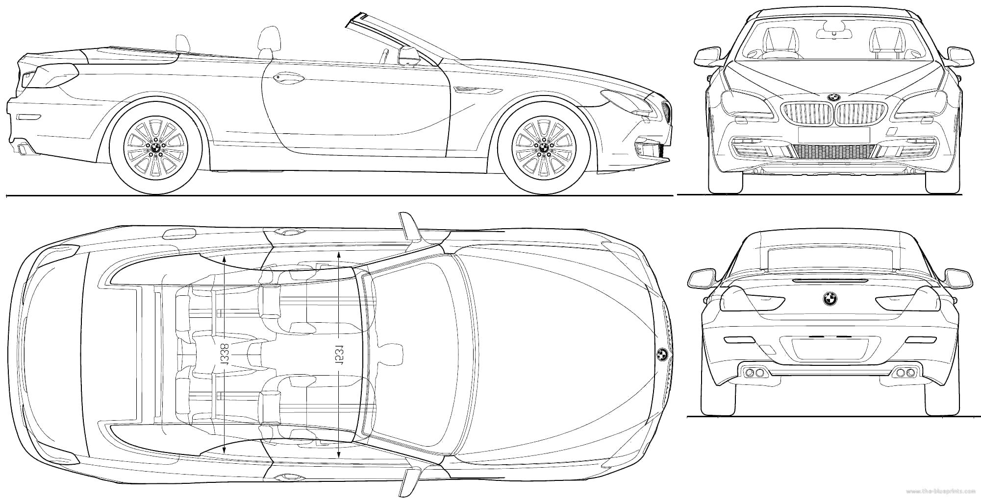 Blueprints > Cars > BMW > BMW 6-Series Convertible (F12