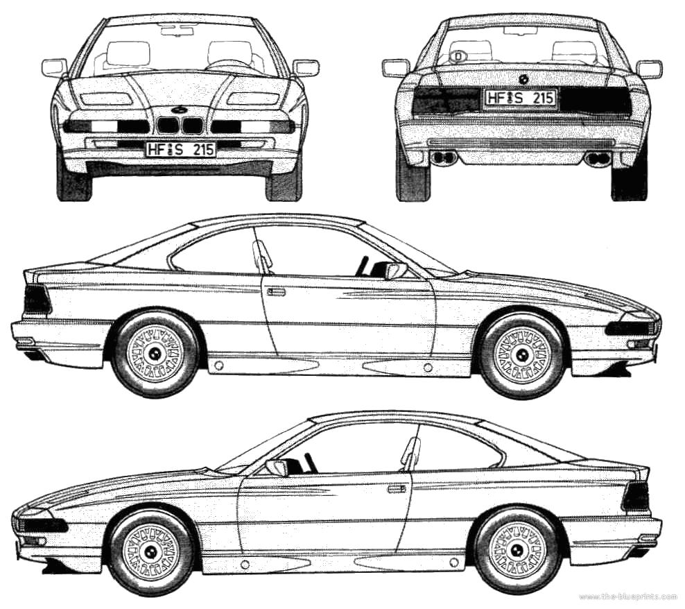 Blueprints > Cars > BMW > BMW 8-Series 850i (E31) (1989)