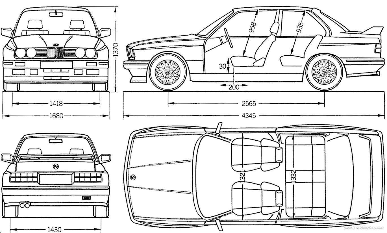 Blueprints > Cars > BMW > BMW E30 M3