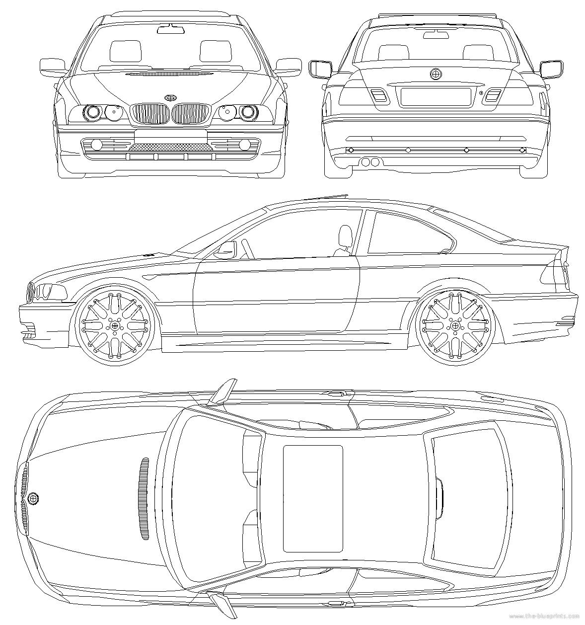 Blueprints > Cars > BMW > BMW 3-Series Coupe with CSL Rims