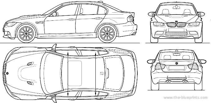Blueprints > Cars > BMW > BMW M3 Sedan (E90) (2010)