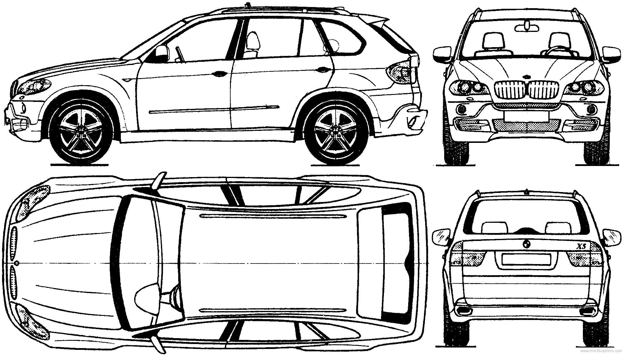Blueprints > Cars > BMW > BMW X5 (2006)