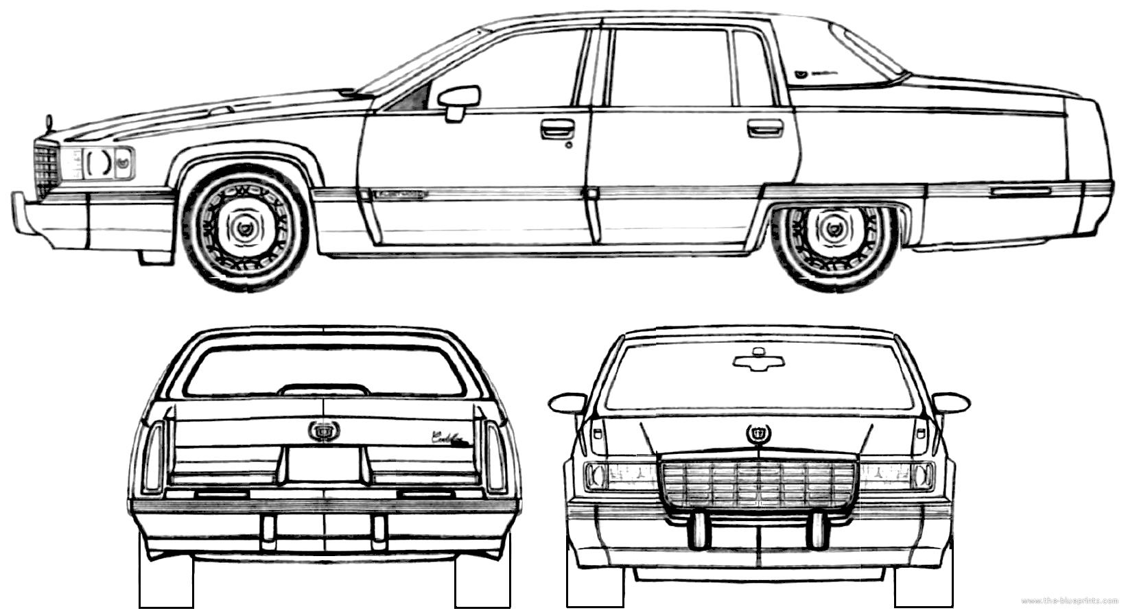 Blueprints > Cars > Cadillac > Cadillac Fleetwood (1994)
