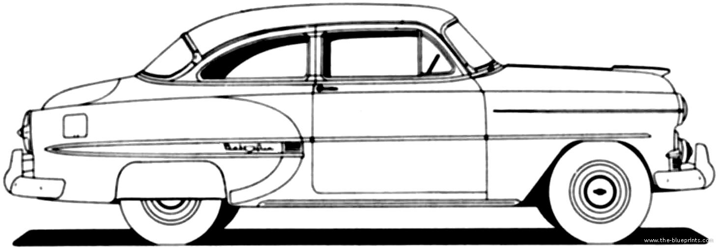 1954 chevrolet bel air power glide auto 4 door sedan for sale