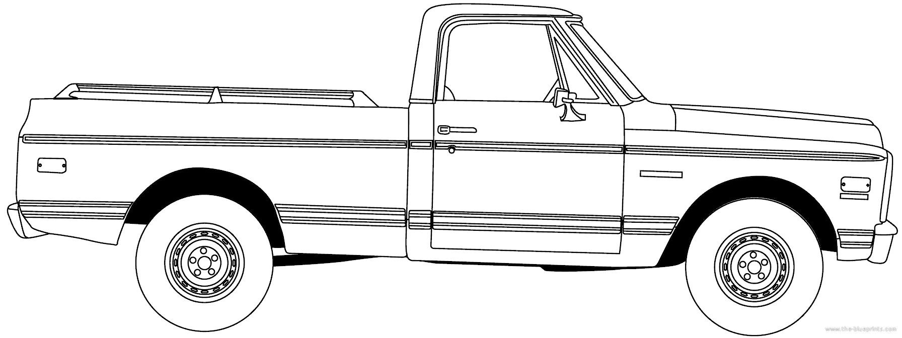 Blueprints > Cars > Chevrolet > Chevrolet C-K Pick-up (1986)