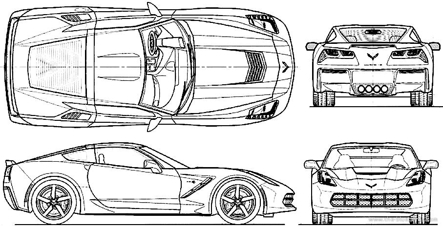 Blueprints > Cars > Chevrolet > Chevrolet Corvette C7