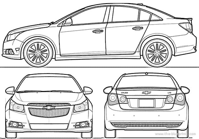 Blueprints > Cars > Chevrolet > Chevrolet Cruze (2014)