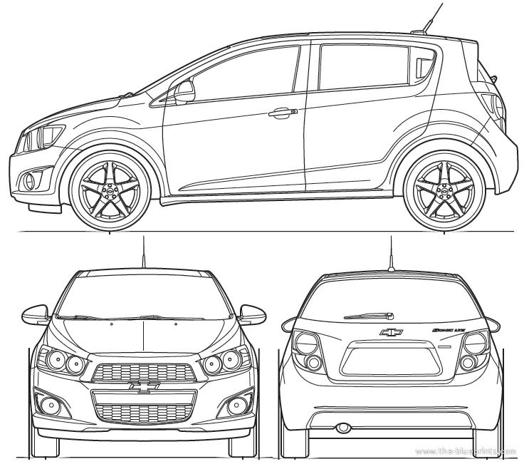 Blueprints > Cars > Chevrolet > Chevrolet Sonic 5-Door (2011)