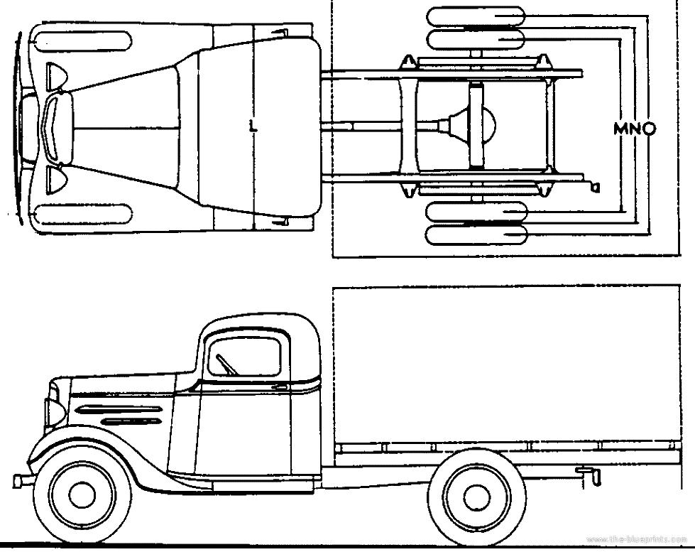Blueprints > Cars > Chevrolet > Chevrolet Truck 1.5t (1936)