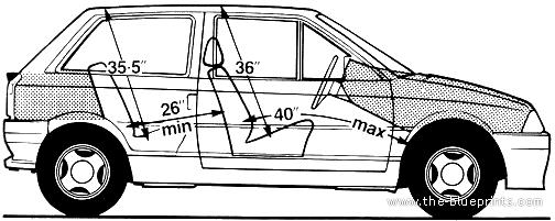 Blueprints > Cars > Citroen > Citroen AX GT (1989)