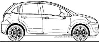 Blueprints > Cars > Citroen > Citroen C3 1.4i VTR (2010)