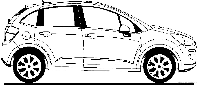 Blueprints > Cars > Citroen > Citroen C3 (2013)