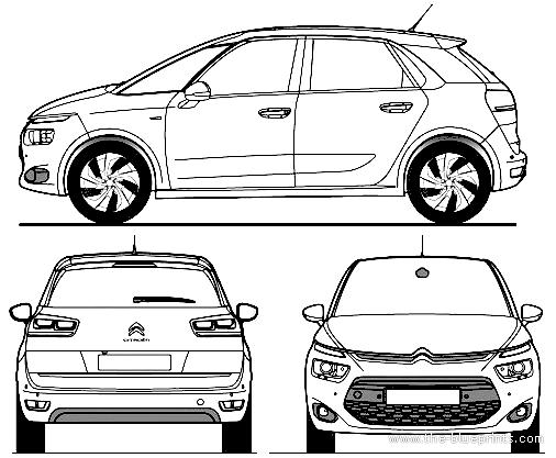 Blueprints > Cars > Citroen > Citroen C4 Picasso II (2013)