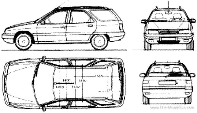 Blueprints > Cars > Citroen > Citroen ZX Break (1990)