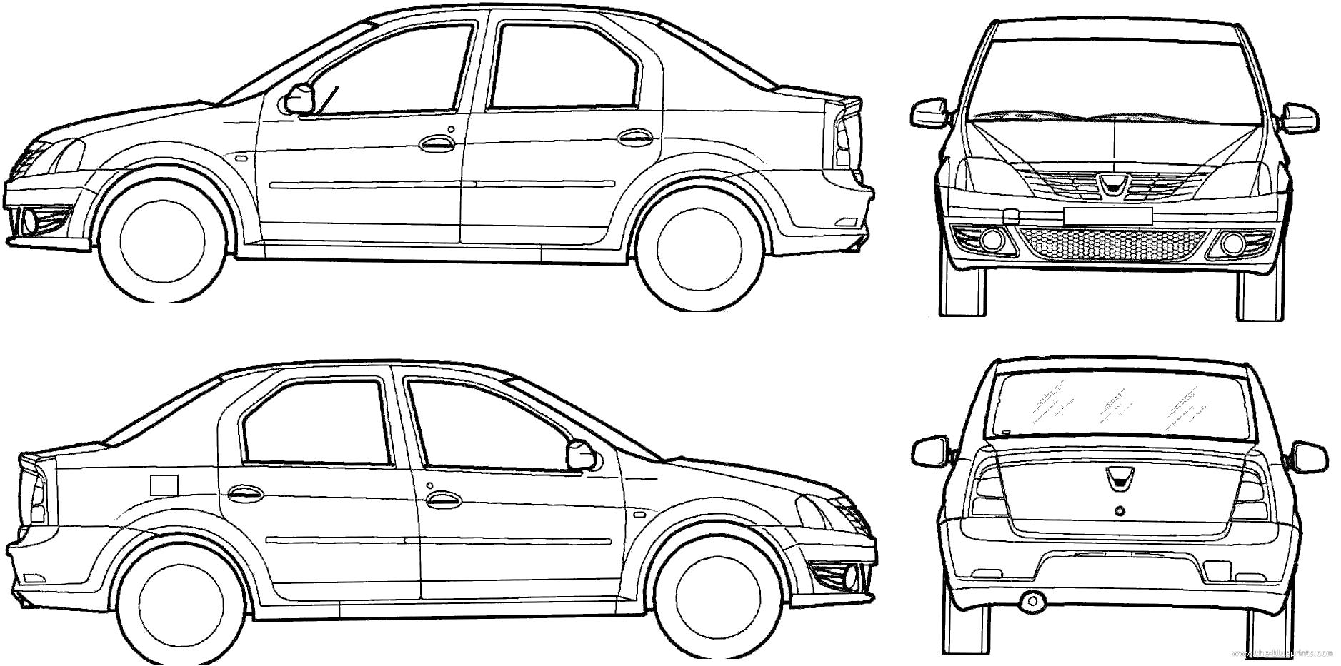 Blueprints > Cars > Dacia > Dacia Logan (2007)