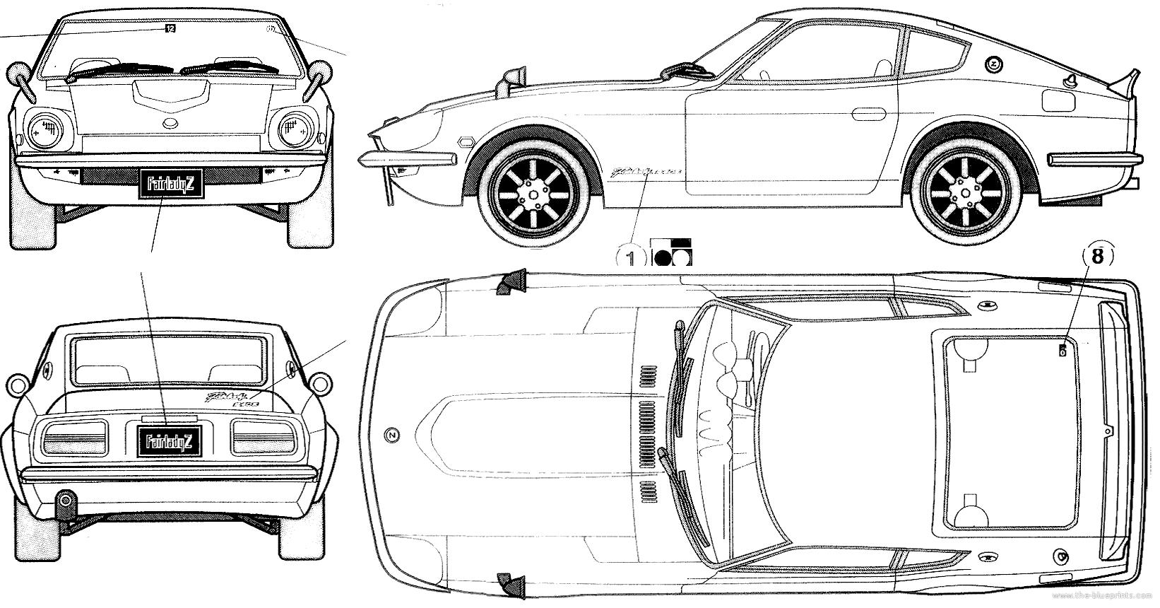 Blueprints > Cars > Datsun > Datsun 240Z (1972)