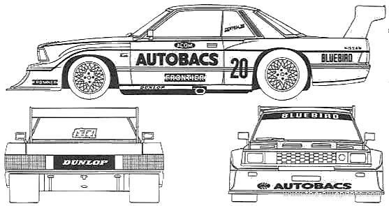 Blueprints > Cars > Datsun > Datsun Bluebird AUTOBACKS