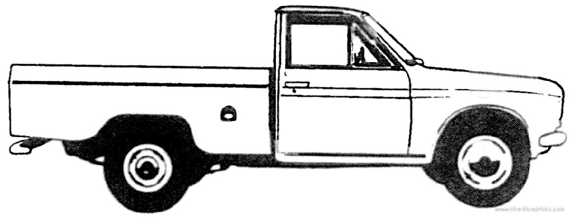 Blueprints > Cars > Datsun > Datsun L520 Pick-up (1972)