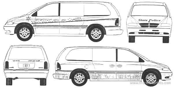 Blueprints > Cars > Dodge > Dodge Grand Caravan (1995)