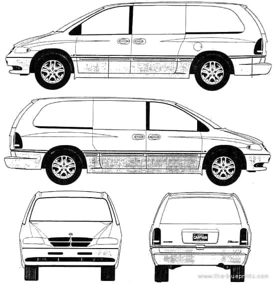 Blueprints > Cars > Dodge > Dodge Grand Caravan LE (2001)
