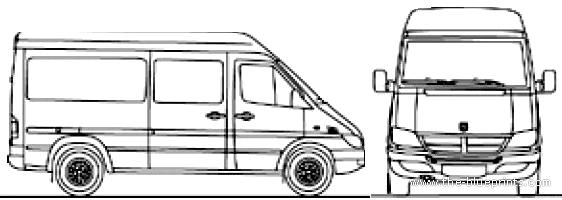 Blueprints > Cars > Dodge > Dodge Sprinter MWB (2007)