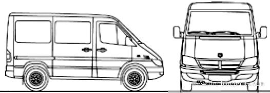 Blueprints > Cars > Dodge > Dodge Sprinter SWB (2007)