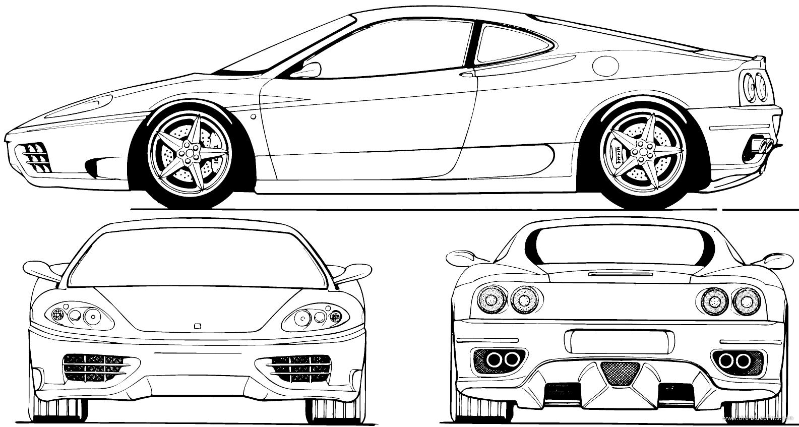 Blueprints > Cars > Ferrari > Ferrari 360 Modena (2000)