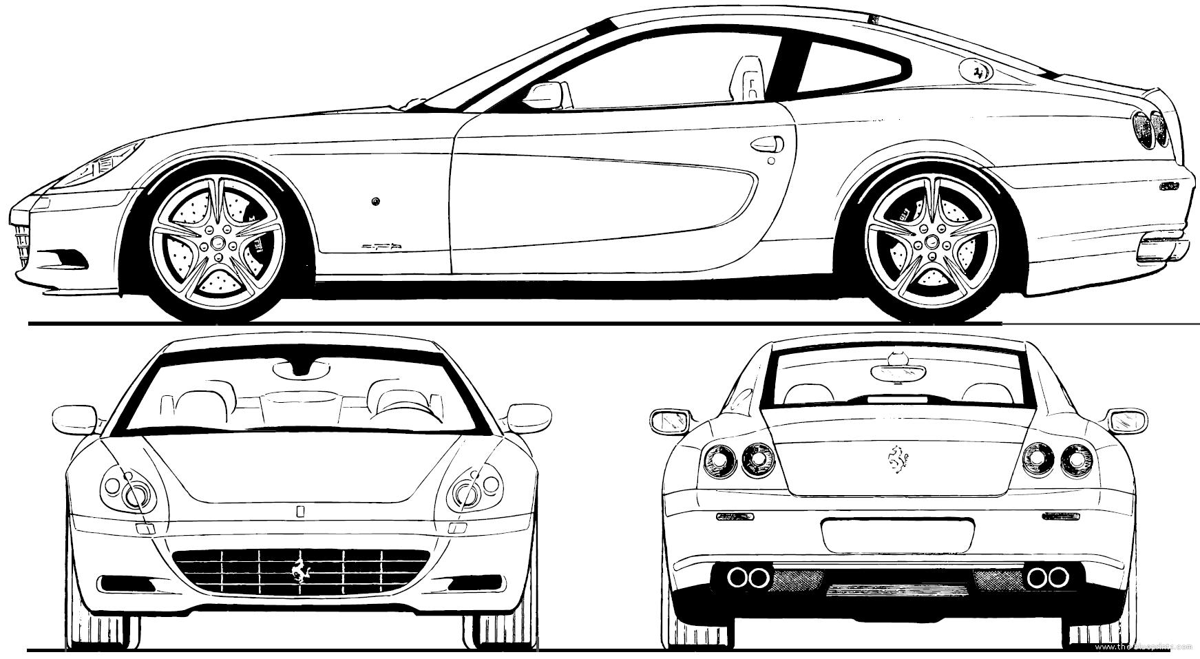 Blueprints > Cars > Ferrari > Ferrari 612 Scaglietti (2006)