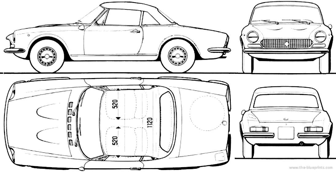 Blueprints > Cars > Fiat > Fiat 124 Spider 1400 (1971)