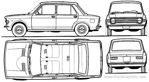 Blueprints > Cars > Fiat > Fiat 128 4-Door (1972)