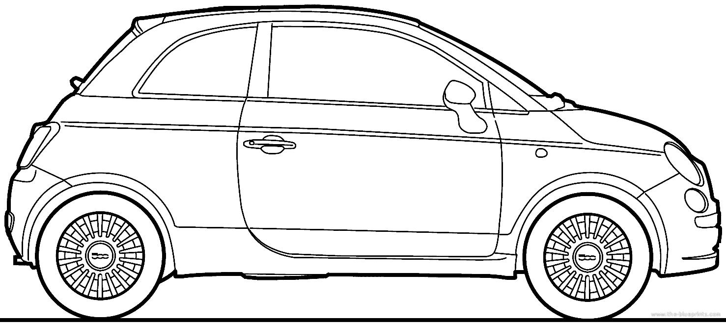 Blueprints > Cars > Fiat > Fiat 500 (2008)