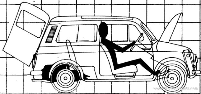 Blueprints > Cars > Fiat > Fiat 500 Giardinera (1970)
