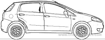 Blueprints > Cars > Fiat > Fiat Grande Punto 1.3 Multijet