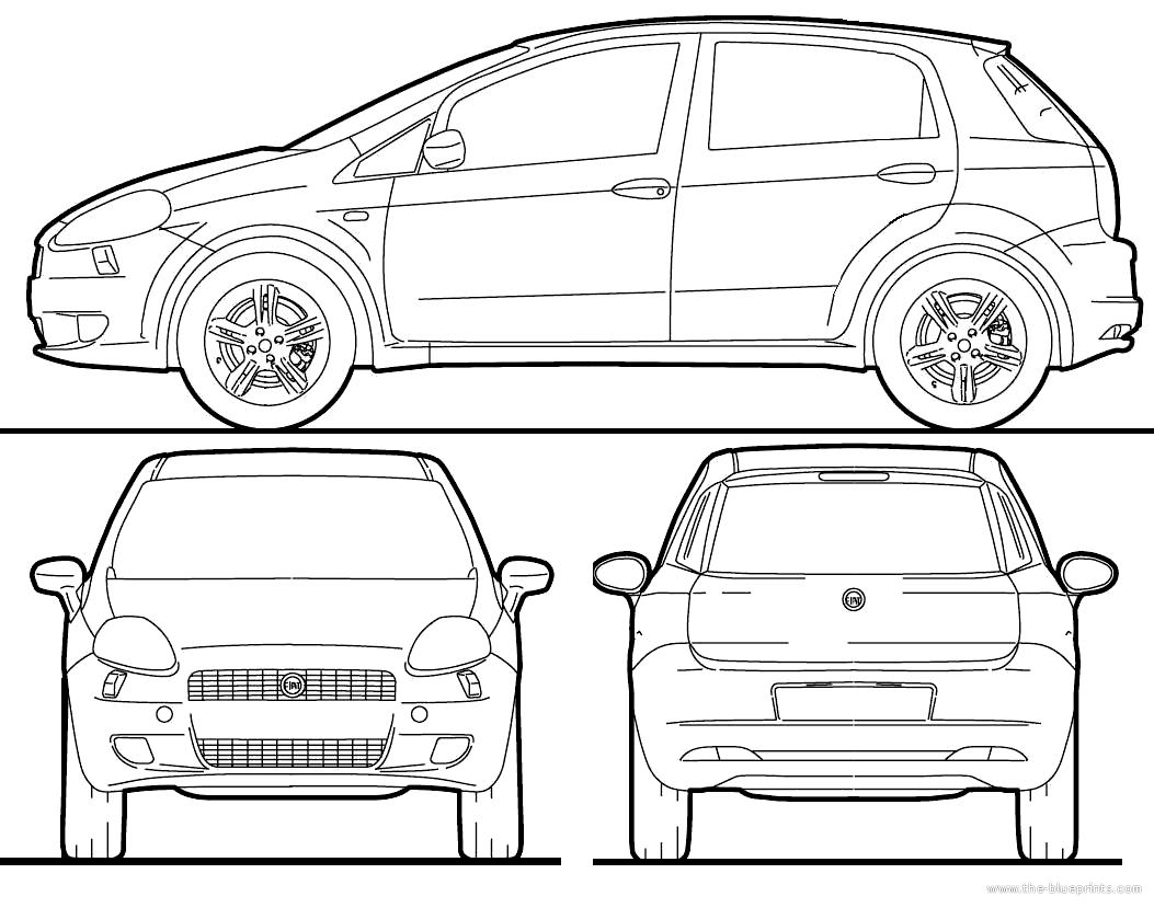 Blueprints > Cars > Fiat > Fiat Grande Punto (2010)