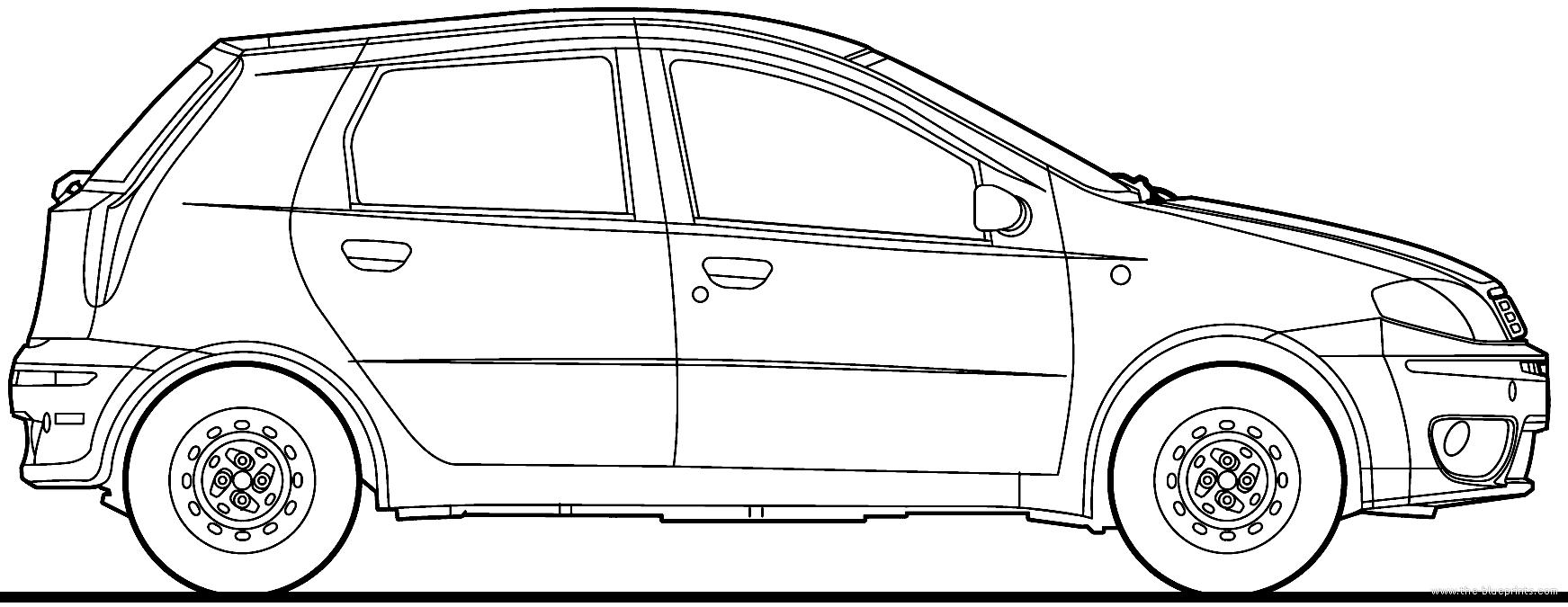 Blueprints > Cars > Fiat > Fiat Punto 5-Door (2008)
