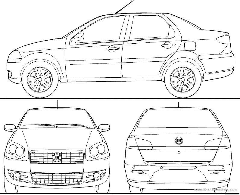 Blueprints > Cars > Fiat > Fiat Siena BR (2012)