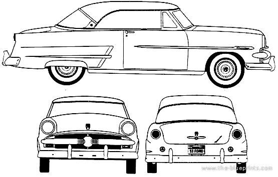 Blueprints > Cars > Ford > Ford Crestline Victoria (1953)