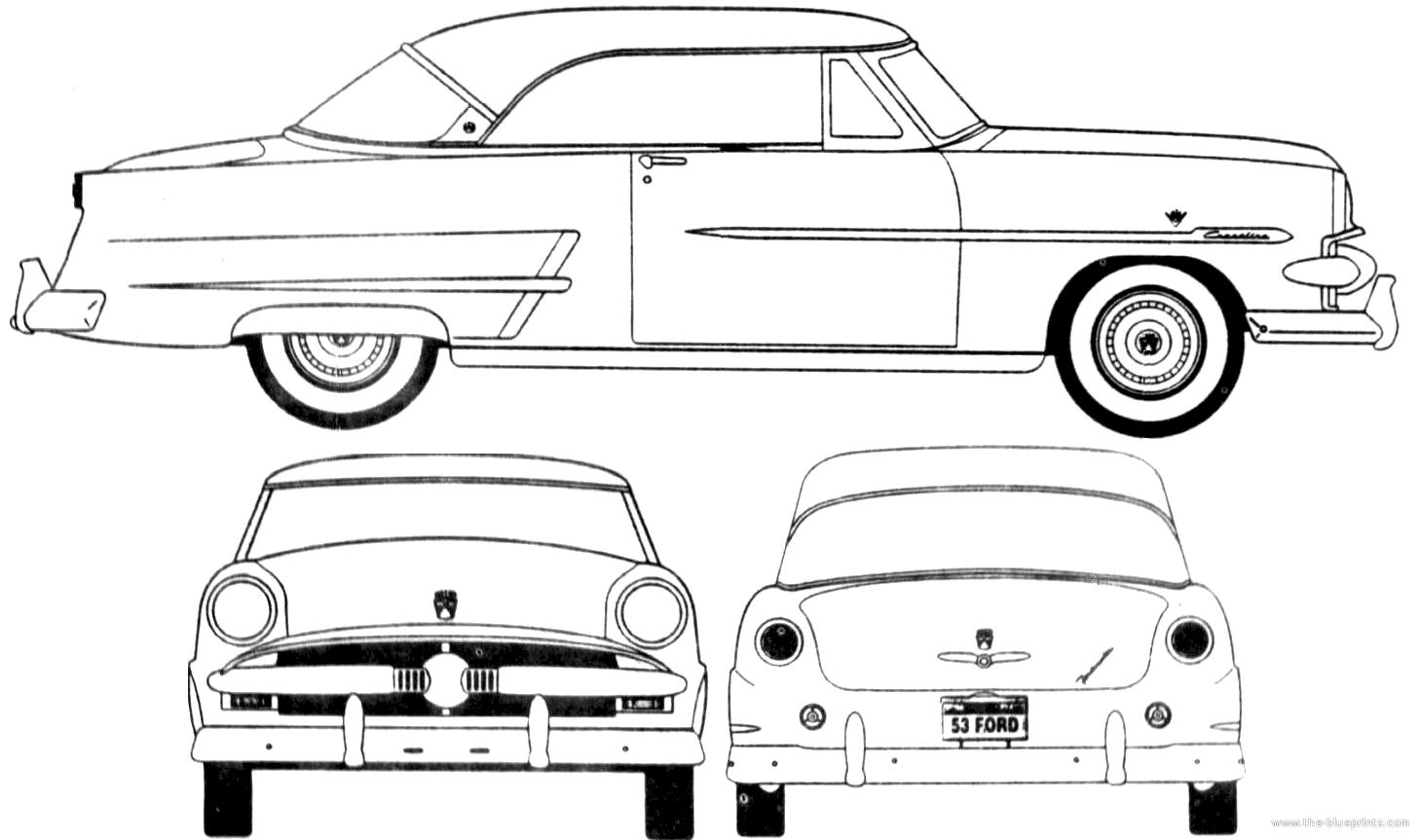 Blueprints > Cars > Ford > Ford Crestline Victoria Hardtop
